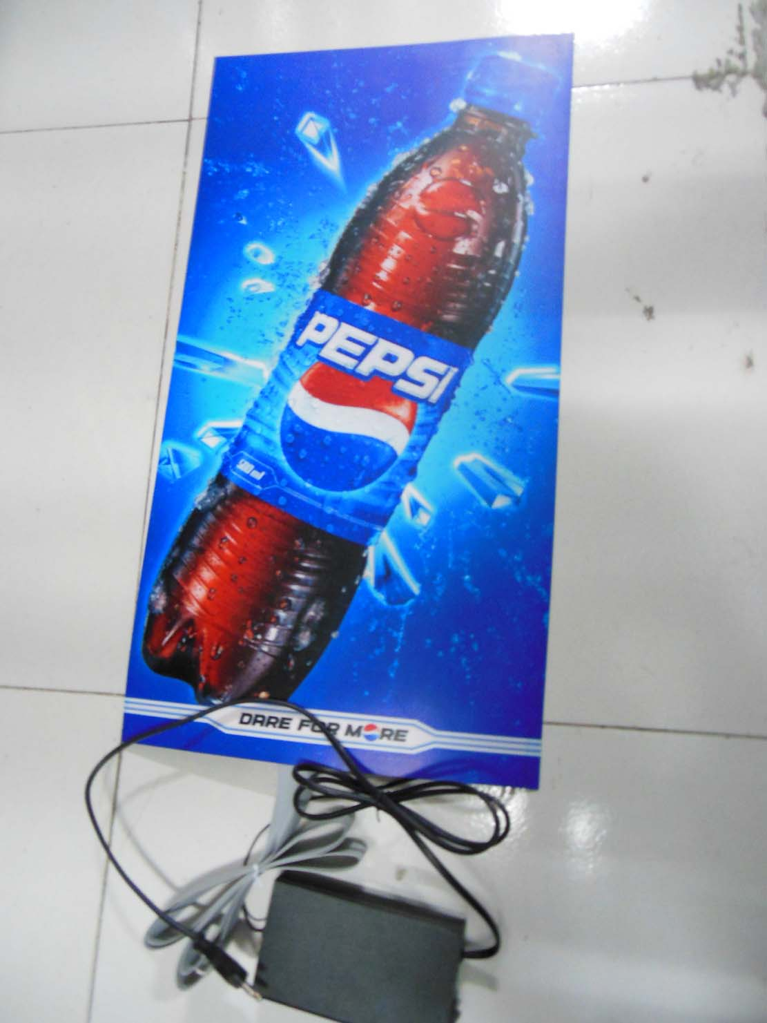 El Flashing Light Coca Cola Poster