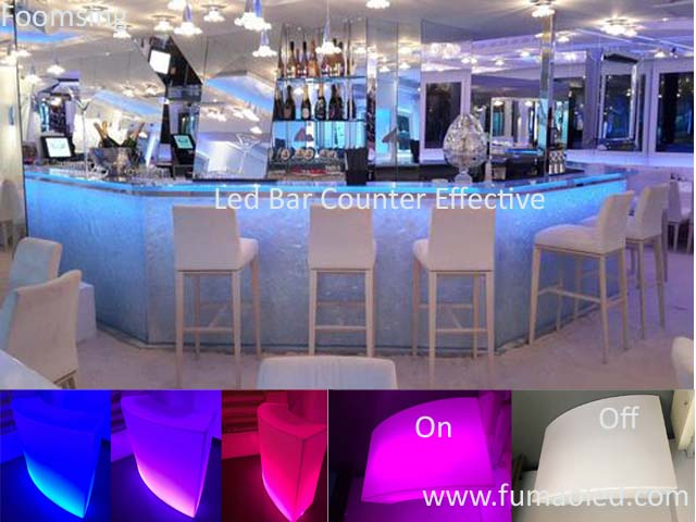 RGB Led Bar Counter With Tunable Stripe Infrared Remote Control